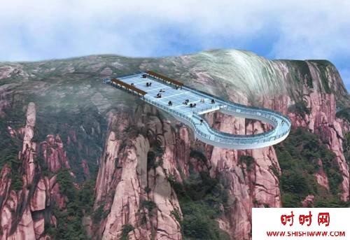 中原第一玻璃廊桥(图)